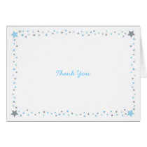 Blue Twinkle Star Thank You Cards