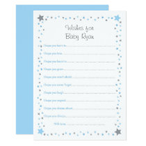 Blue Twinkle Star Wishes for Baby Card