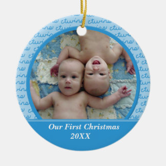 Blue Twins First Christmas Ornament
