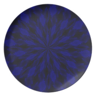 Blue twist melamine plate