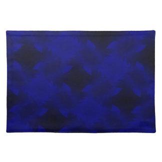 Blue twist placemat
