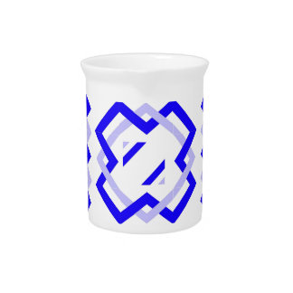 Blue Twisted Ribbons Beverage Pitcher