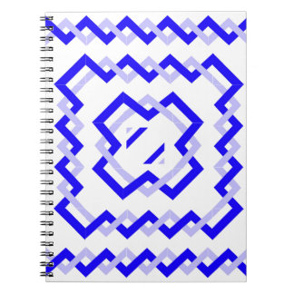 Blue Twisted Ribbons Spiral Notebooks