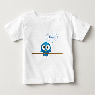 Blue twitter bird cartoon baby shirt