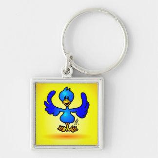Blue Twitter Bird Keychain