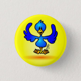 Blue Twitter Bird Pinback Button
