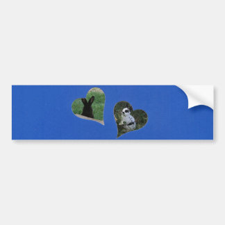 Blue Two Heart Add Photo Frame Bumper Sticker