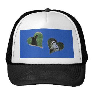 Blue Two Heart Add Photo Frame Trucker Hat