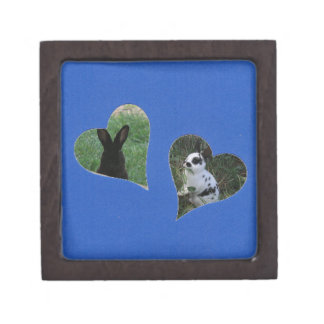 Blue Two Heart Frame Premium Gift Boxes