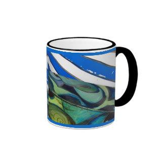 blue two mugs