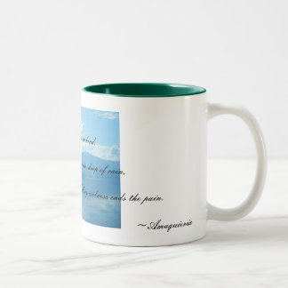 Blue Two-Tone Coffee Mug