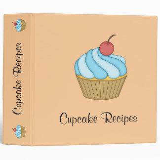 Blue Two Tone Cupcake Recipe Binder