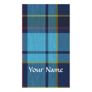 Blue U.S.A.F tartan pattern Business Card Templates