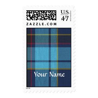 Blue U.S.A.F tartan pattern Postage