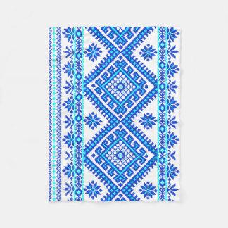 Blue Ukrainian Cross Stitch Pattern Baby Blanket