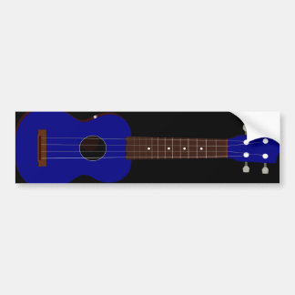 Blue Ukulele design Bumper Stickers