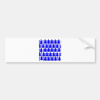 Blue Ukuleles Bumper Sticker