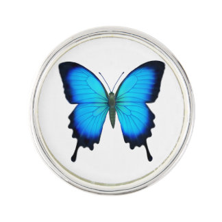 Blue Ulysses Butterfly Lapel Pin