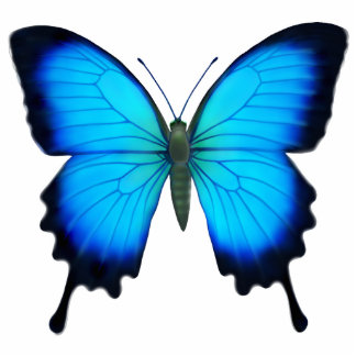 Blue Ulysses Butterfly Pin Cutout