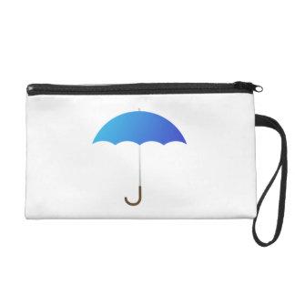 Blue Umbrella Wristlet Clutches