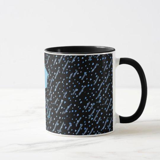 BLUE UMBRELLA SHOWERS OF LOVE by SHARON SHARPE Mug