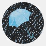 BLUE UMBRELLA SHOWERS OF LOVE by SHARON SHARPE Sticker