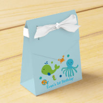 Blue Under The Sea Baby Shower Favor Box
