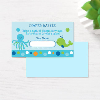 Blue Under The Sea Diaper Raffle Tickets