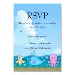 Blue Under The Sea RSVP 3.5x5 Paper Invitation Card