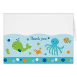 Blue Under the Sea Thank You Note Cards