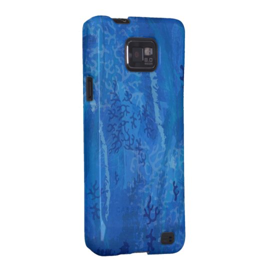Blue Undersea Coral Pattern - Blue Samsung Galaxy S2 Cover
