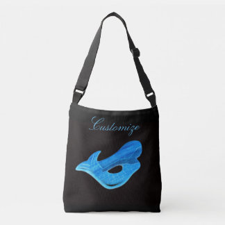 blue underwater mermaids crossbody bag