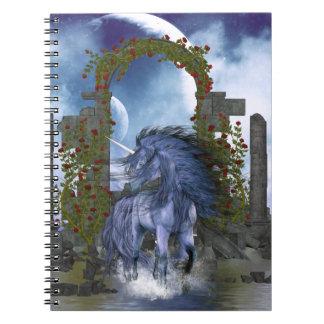 Blue Unicorn 2 Spiral Notebook