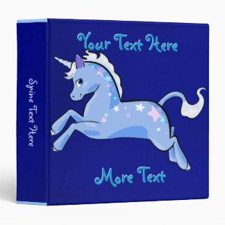 Blue Unicorn Binder