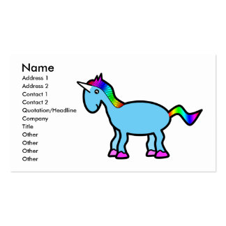 Blue unicorn Double-Sided standard business cards (Pack of 100)