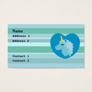 Blue Unicorn Business Cards