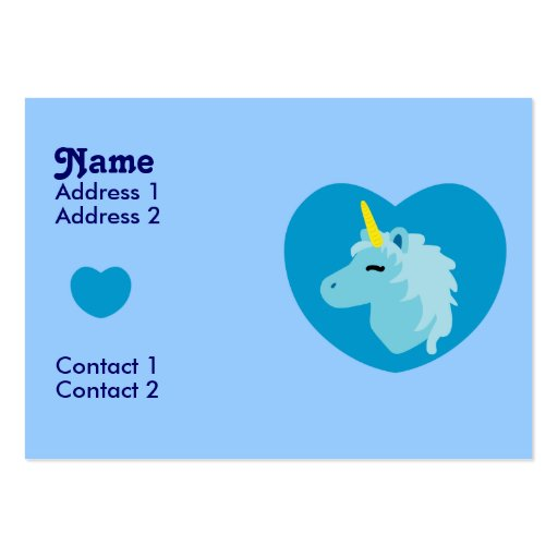 Blue Unicorn Business Cards
