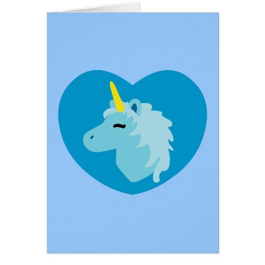 Blue Unicorn Card