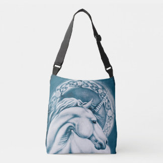 Blue Unicorn Crossbody Bag