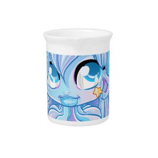 Blue Unicorn girl Beverage Pitchers