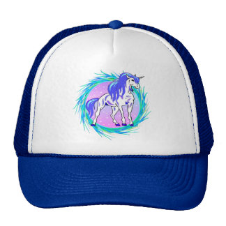 Blue Unicorn Mesh Hat