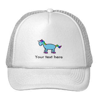 Blue unicorn hat