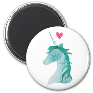 Blue Unicorn Magic with Heart Magnet