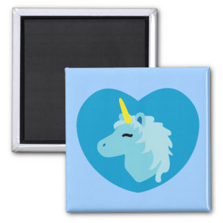 Blue Unicorn Magnet
