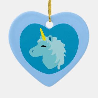 Blue Unicorn Ornaments