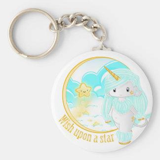 Blue Unicorn Po Keychain