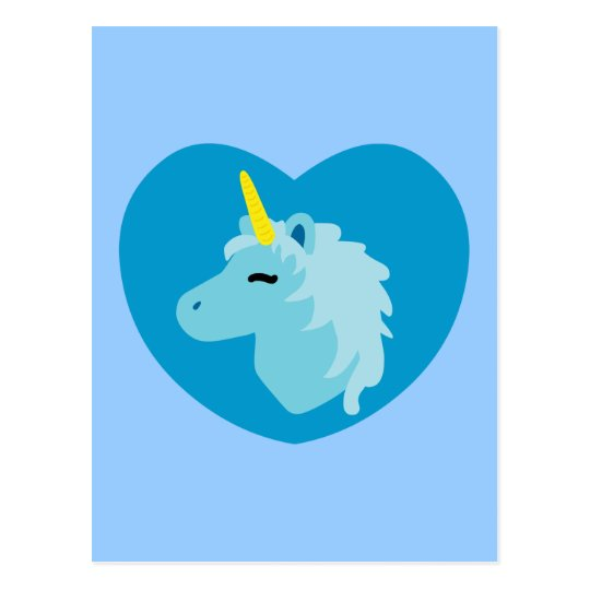 Blue Unicorn Postcard