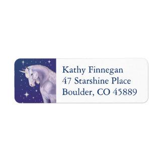 Blue Unicorn return address label
