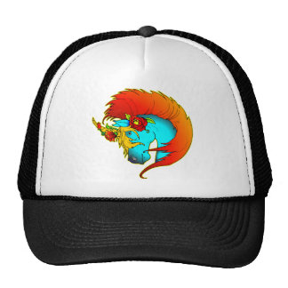 Blue Unicorn Tattoo Mesh Hats