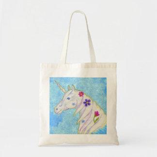 Blue Unicorn tote bag